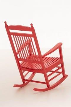 Schaukelstuhl kaufen in rot